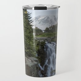 Mount Rainier and Myrtle Falls, Late Afternoon Travel Mug