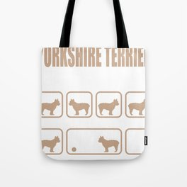 Stubborn Yorkshire Terrier Tricks design Tote Bag