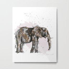 Elephant Mommy Metal Print