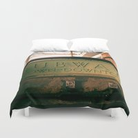 subway Duvet Covers featuring Subway by Kimball Gray