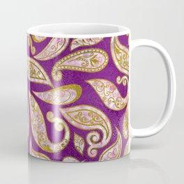 Gold and pink glitter Paisley pattern on purple Coffee Mug