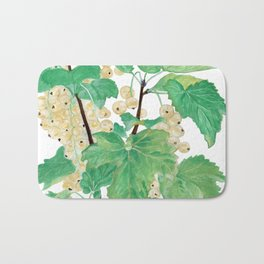 Branch of white currants Bath Mat