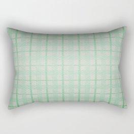 Pale Sea Plaid Rectangular Pillow
