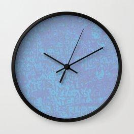 Blue Haze Pattern Wall Clock