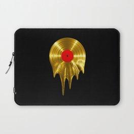 Melting vinyl GOLD / 3D render of gold vinyl record melting Laptop Sleeve