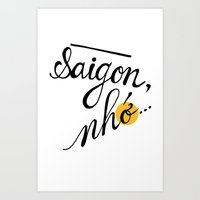Saigon, nhớ Art Print