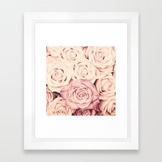 Some people grumble I Floral rose roses flowers pink Framed Art Print