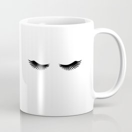 Eyelashes Print,Makeup Poster,Bathroom Decor,Girls Room Decor,Girls Bedroom Decor,Home Decor Coffee Mug