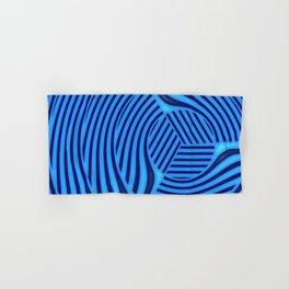 Edge in blue pattern Hand & Bath Towel