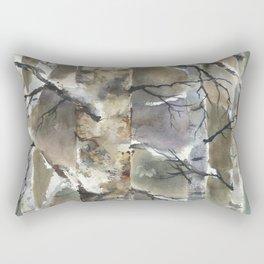 Birch Forest, an original watercolor painting Rectangular Pillow