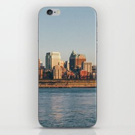 Brooklin view from Hudson river (New York City - USA) iPhone Skin