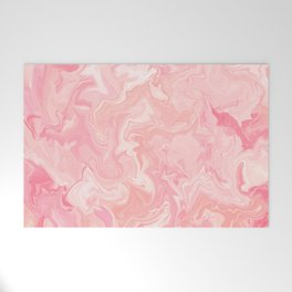 Blush pink abstract watercolor marble pattern Welcome Mat