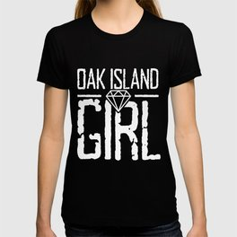 Oak Island Girl Templar Treasure Hunting Gift T-shirt