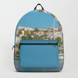 Symi Island in Greece Backpack