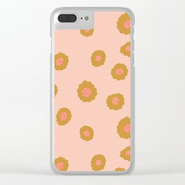 dotty flower Clear iPhone Case