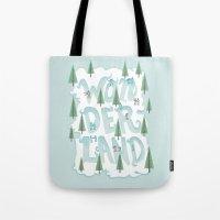 wonderland Tote Bags featuring Wonderland by Nick Volkert