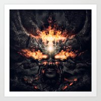 diablo Art Prints featuring Diablo by dracorubio