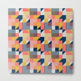 Bauhaus 100 years colorful pattern Metal Print