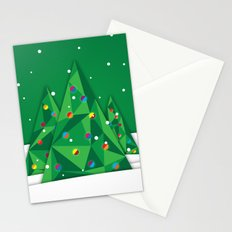 Vector Christmas Tree Stationery Cards