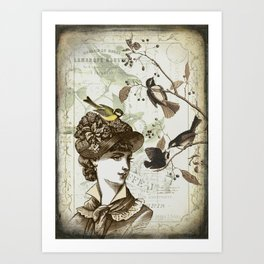 The Hat Art Print