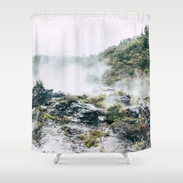 Steaming Earth Shower Curtain