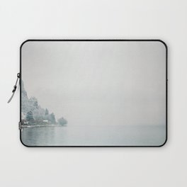 Annecy under the snow - French Alps Laptop Sleeve
