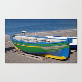 Colorful Small Fishing Boat Canvas Print