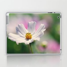 White Cosmos Laptop & iPad Skin
