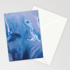 Watercolor marble blue & purple Stationery Cards