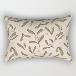 Mistletoe Pattern Rectangular Pillow