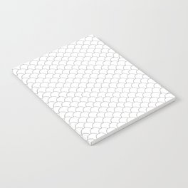 Geometric Black and White Scales Notebook