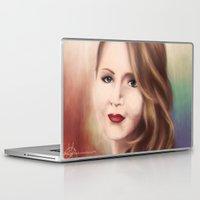 jennifer lawrence Laptop & iPad Skins featuring Jennifer by Alanna791