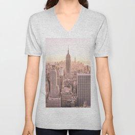 NEW YORK CITY SUNSET Unisex V-Neck