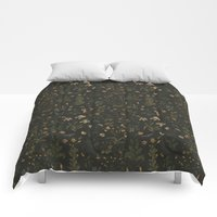 Comforters featuring Old World Florals by Jessica Roux
