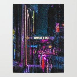 Midnight at Tiffany Poster
