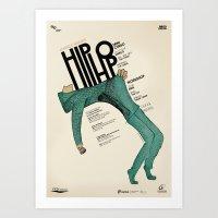 hip hop Art Prints featuring Hip-Hop by Mariana Baldaia