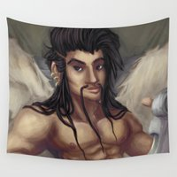 pinup Wall Tapestries featuring Pinup Draven by Allie Bustion