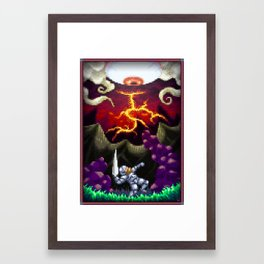 Pixel Art series 5 : The eye Framed Art Print