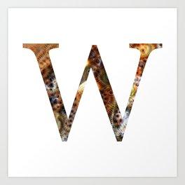 "Initial letter ""W"" Art Print"