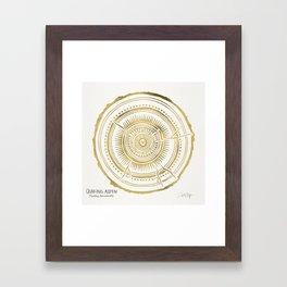 Quaking Aspen – Gold Tree Rings Framed Art Print