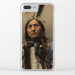 Left Hand Bear, Oglala Sioux chief Clear iPhone Case