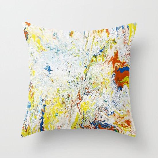 Gravity Painting 24 Throw Pillow