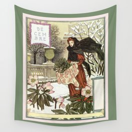 The pretty woman gardener Wall Tapestry