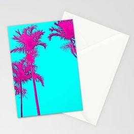 Florida Palm Blue Ink Trees Sketch Art - Andrea Mora Bespoke Art Sunny Skies 20 Franklin's Stationery Cards