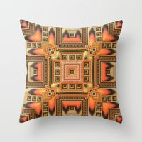 blanket Throw Pillows featuring Cozy Blanket by Lyle Hatch