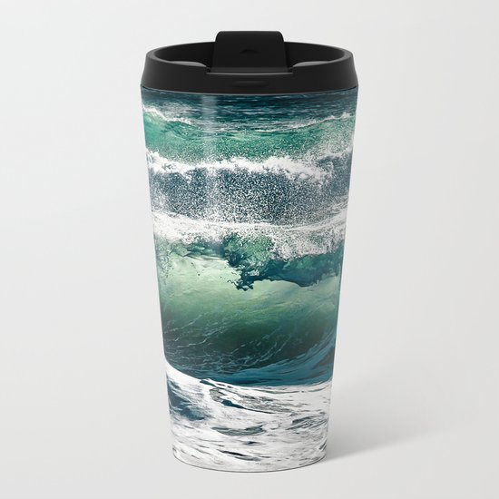 Wild waves Metal Travel Mug
