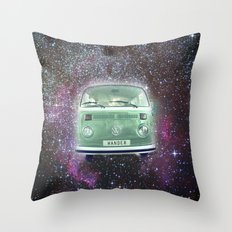 Star van. Wandering in the stars Throw Pillow