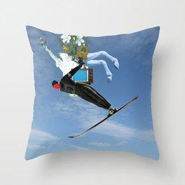 Der Absturz Throw Pillow