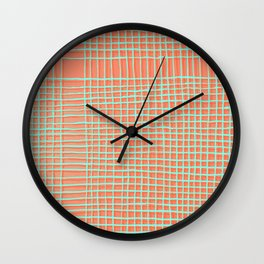 Left - Orange and green Wall Clock