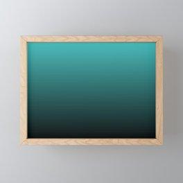 Teal Black Ombre Framed Mini Art Print